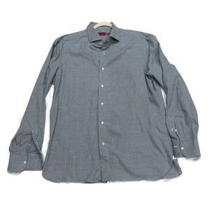 ISAIA Blue Long Sleeve Dress Shirt 16.5/42